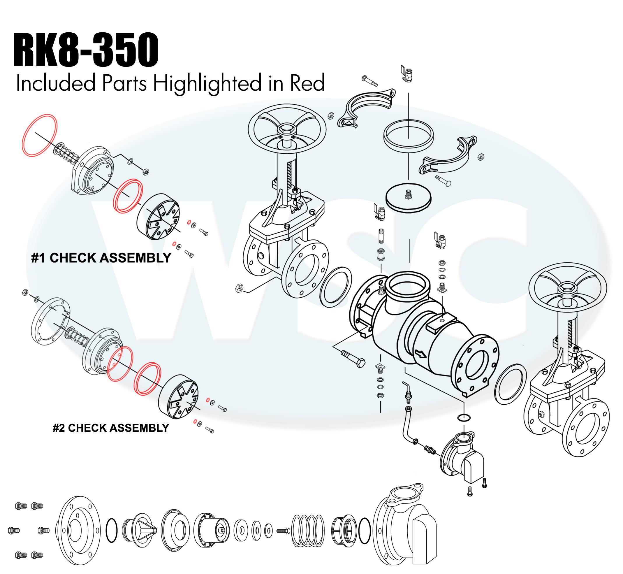 rk8-350 - check rubber kit